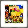 Boarding Noah's Ark At Night Framed Print