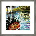 Boat On The Bayou Framed Print