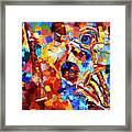Bold Jazz Quartet Framed Print