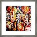Bottle Jazz Framed Print