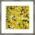 Bouquet In Gold Framed Print