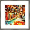 Bourbon Street Blitz Framed Print