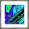 Bourbon Street In Blue Framed Print