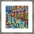Bourbon Street New Orleans By Prankearts Framed Print