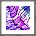 Brain Coral Abstract 4 In Purple Framed Print