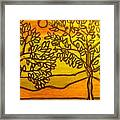 Breeze Leaves Trees Framed Print