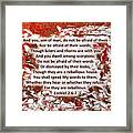 Briers And Thorns With Scripture Framed Print