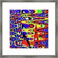 Bright Color Mix Abstract Framed Print