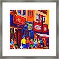 Bright Lights On The Main Framed Print