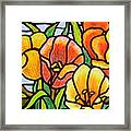 Bright Tulips Framed Print