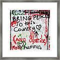 Bring Peace Framed Print