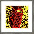 Brit Phone Box Framed Print
