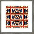 British Flag Collage One Framed Print