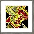 Broken 9 Framed Print