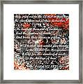 Broken Chains With Scripture Framed Print