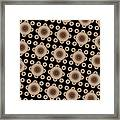 Brown And Black Mandala Pattren Framed Print
