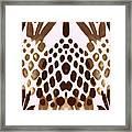 Brown Pineapple Framed Print