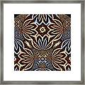 Brushed Marbles Framed Print