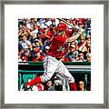 Bryce Harper Washington Nationals Framed Print