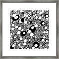 Bubble Doodle Framed Print