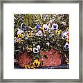 Bucket Of Flowers Framed Print
