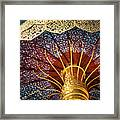 Buddhas Path To Enlightenment, Golden Umbrella Framed Print