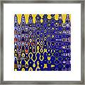Building Of Circles And Waves Colored Yellow And Blue Framed Print
