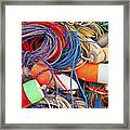 Buoys And Rope Framed Print