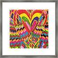 Busy Heart Framed Print