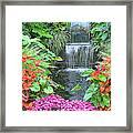 Butchart Gardens Waterfall Framed Print