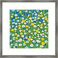 Buttercups And Daisies Framed Print