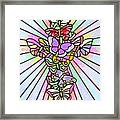 Butterfly Cross Framed Print
