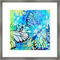 Butterfly In Flight #3  Framed Print