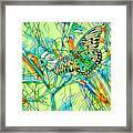 Butterfly Mosiac Framed Print