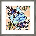 Butterflywhispers1 Framed Print