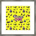 Buzz Off  - Typography Framed Print