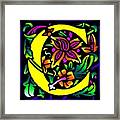 C In Yellow Framed Print