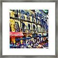 Cafe 2 Provence Framed Print