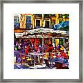 Cafe Provence Framed Print