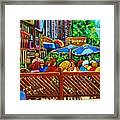 Cafe Second Cup Framed Print