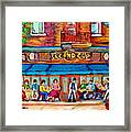 Cafe Second Cup Terrace Framed Print