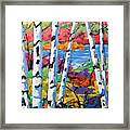 Canadian Birches By Prankearts Framed Print