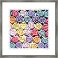 Candy Love Framed Print