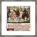 Canterbury Pilgrims Framed Print