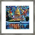 Capital At Night - Washington Framed Print