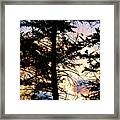 Cariboo District Sunset Framed Print