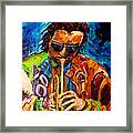 Carole Spandau Paints Miles Davis And Other Hot Jazz Portraits For You Framed Print