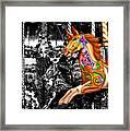 Carousel In Isolation Framed Print