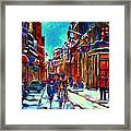 Carriage Ride Through the Old City Framed Print