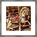 Carrousel Horse Ride Framed Print